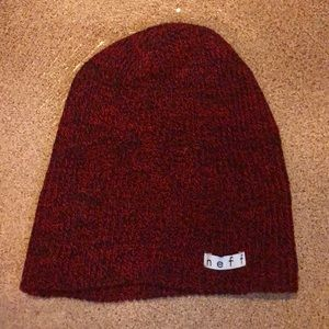 Neff beanie (red and black)